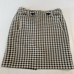 Banana Republic black & white pencil skirt size 4